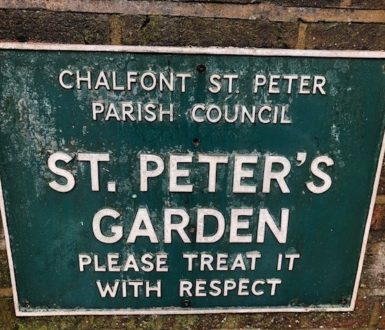 St Peters Garden Sign