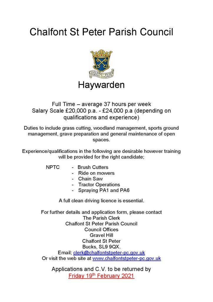 Haywarden Advert Feb 2021 Page 001