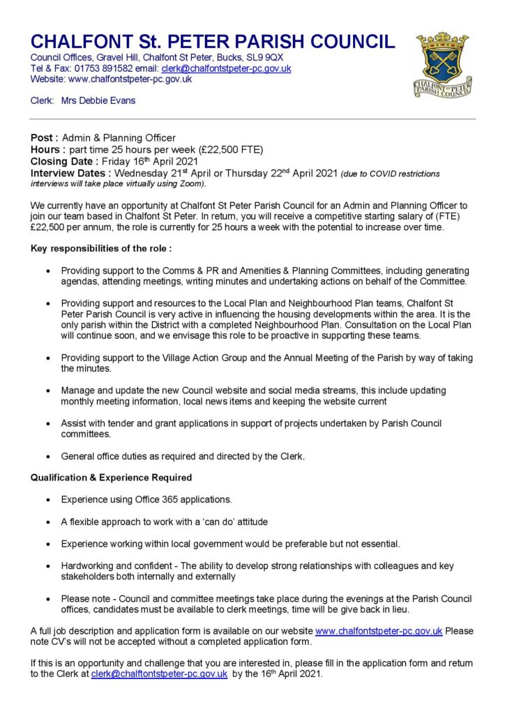 Advert Admin & Planning Officer March 2021 Page 001