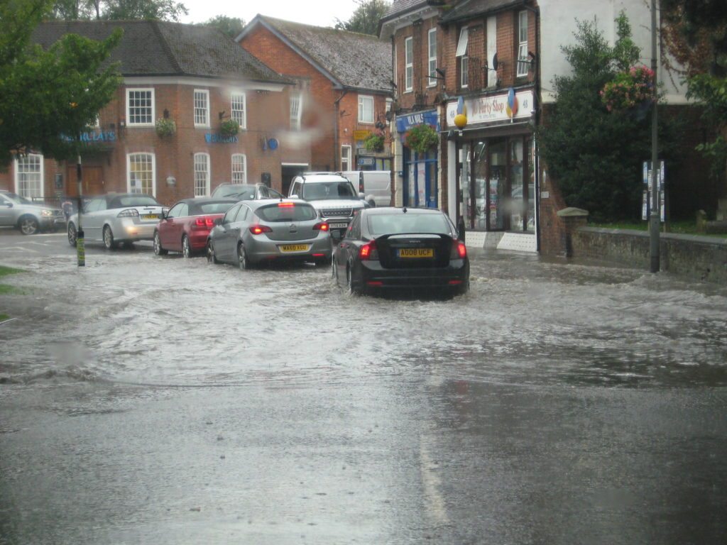 High Street picture of flooding