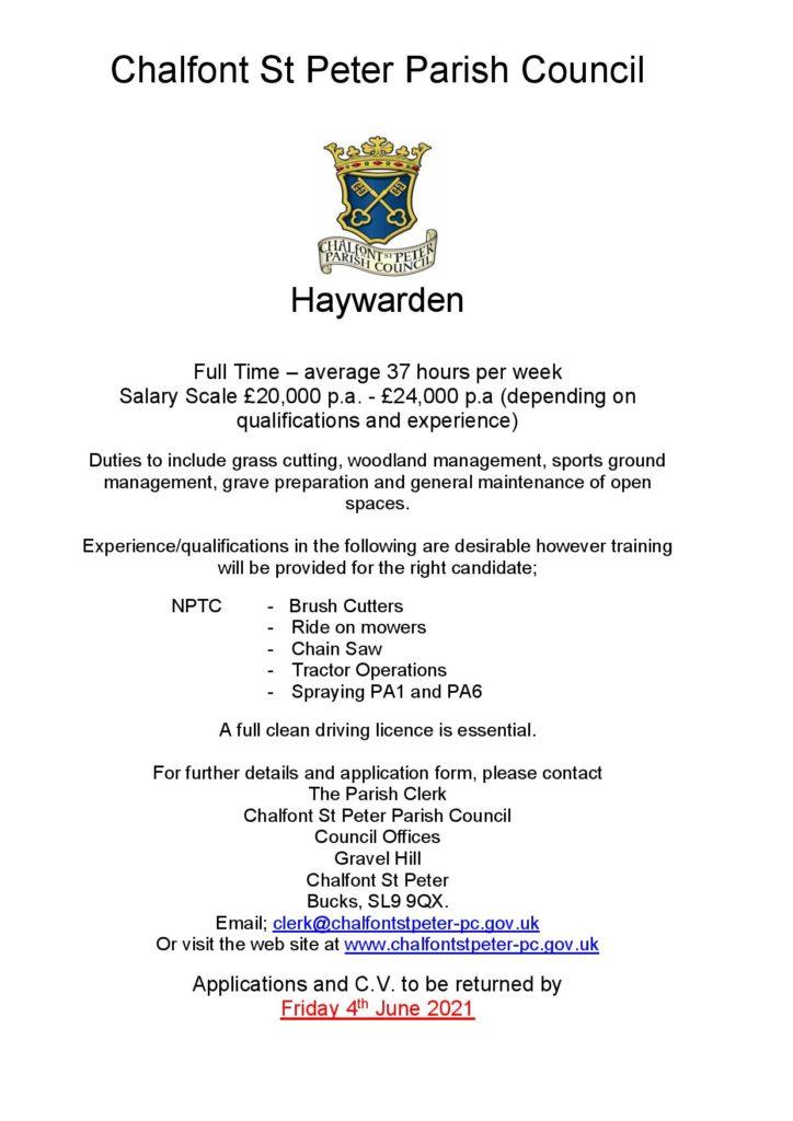 Haywarden Advert April 2021 (2) Page 001